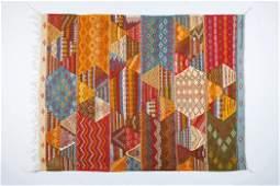 Tribal Moroccan flat-weave Multicolor Wool Rug