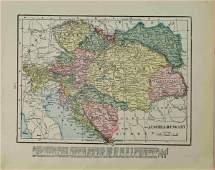 1883 c. Cram Map of Austria-Hungary -- Austria-Hungary