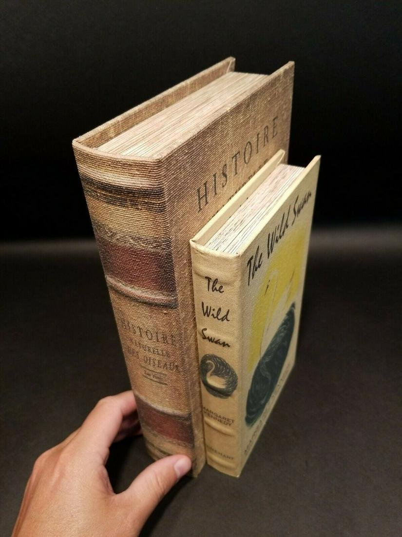2 Wood Faux Book Secret Box