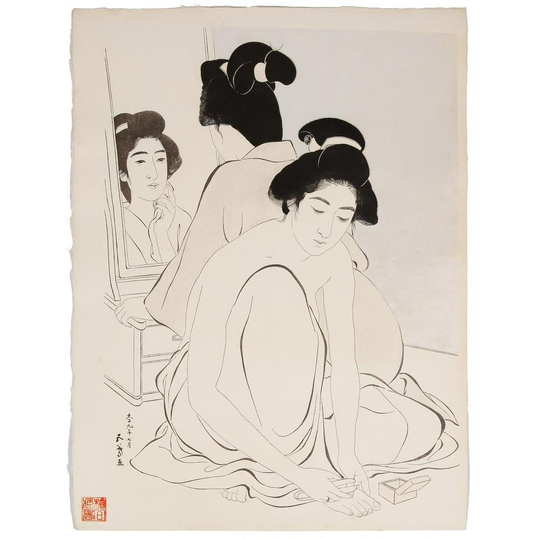 Goyo Hashiguchi, Two Women after Bath, Shin Hanga