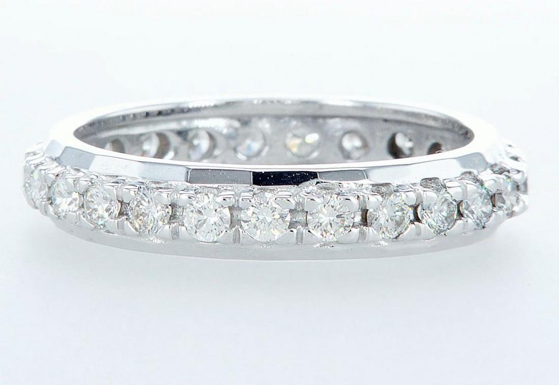14 kt. White gold -Eternity Ring Diamond-1.00CTW