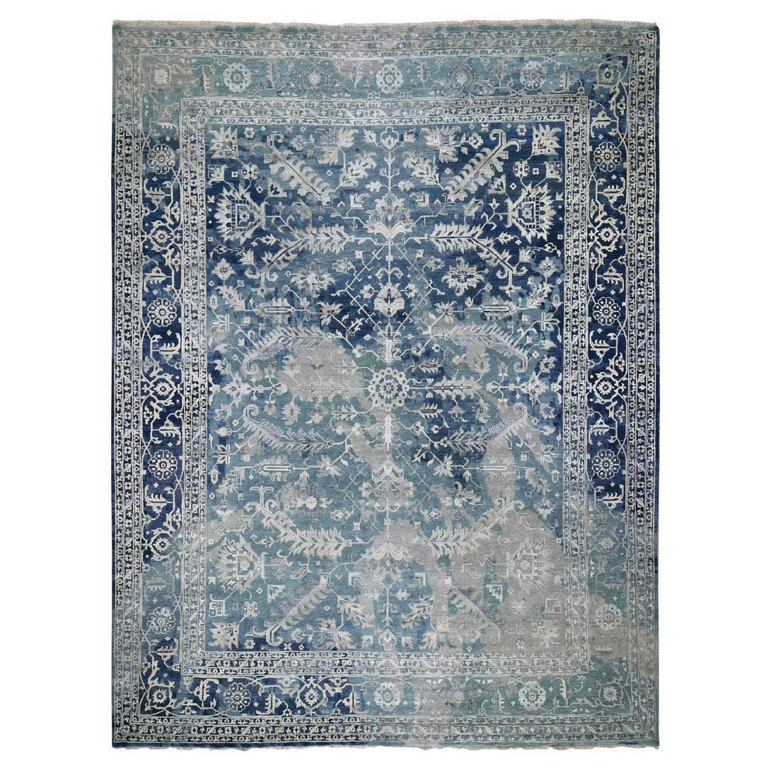 Oversized Broken Persian Heriz All Over Design Wool And