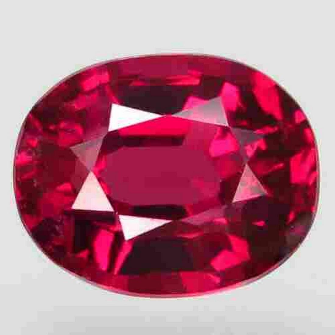 2.54 ct natural top red pink rhodolite garnet