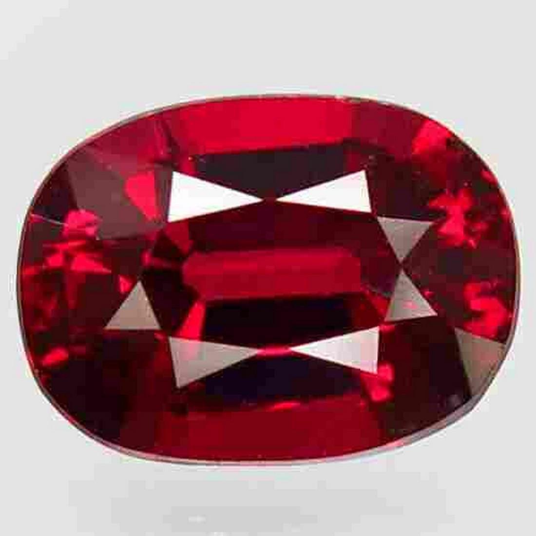 2.29 ct natural top red rhodolite garnet