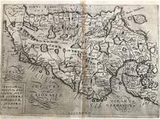 RARE map of Norway, Sweden & Denmark by Quad. 1596