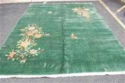 c1920s ANTIQUE MINT ART DECO ROOM SIZE CHINESE WALTER