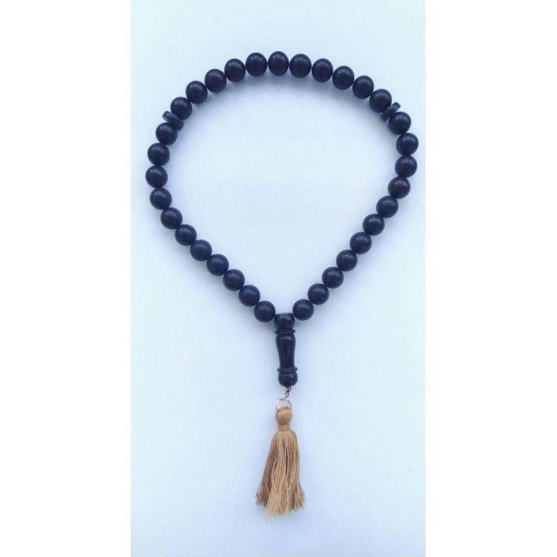 40 g. Natural Baltic amber rosary imam black amber