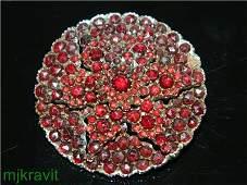 Victorian Stunning Vermeil Bohemian Garnet Star Burst
