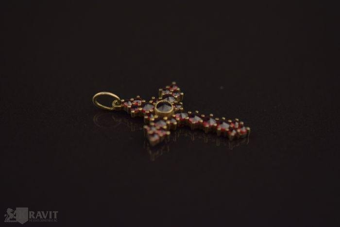 Victorian Vermeil Bohemian Garnet Pendant P.N