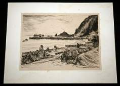 1940 Hawaii Print Mending Nets Hana Huc M Luquiens