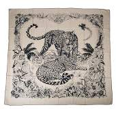 Hermes Shawl / Scarf Jungle Love Tattoo Cashmere Silk