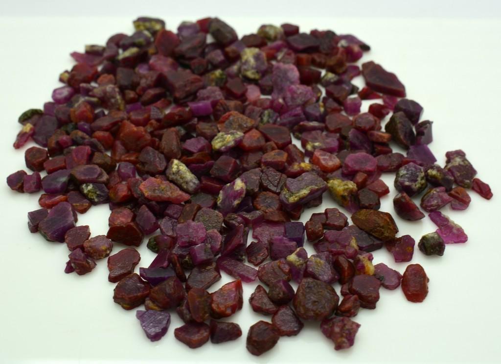 89 Grams Natural Rough Ruby Crystals Lot