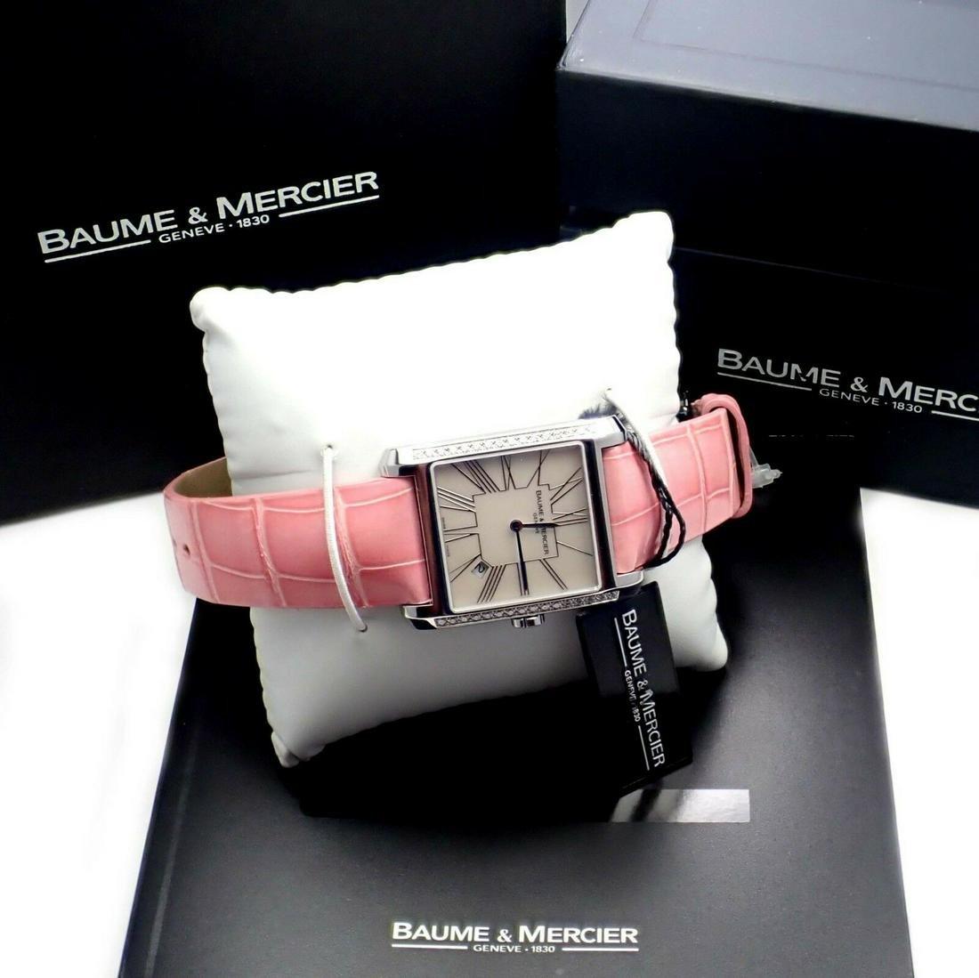 Authentic! Baume & Mercier Stainless Steel Pink Ladies