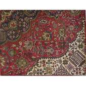 "Authentic Vintage Persian Tabriz Rug 7'1"" X 4'6"""
