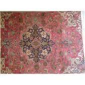 "Authentic Vintage Persian Tabriz Rug 11'2"" X 6'10"""