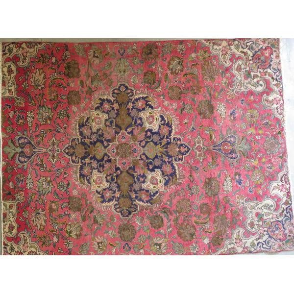 "Authentic Vintage Persian Tabriz  Rug  11'2""  X  6'10"""