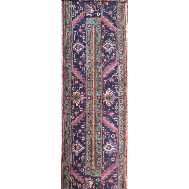 "Authentic Vintage Persian Tabriz  Rug  8'5""  X  2'4"""
