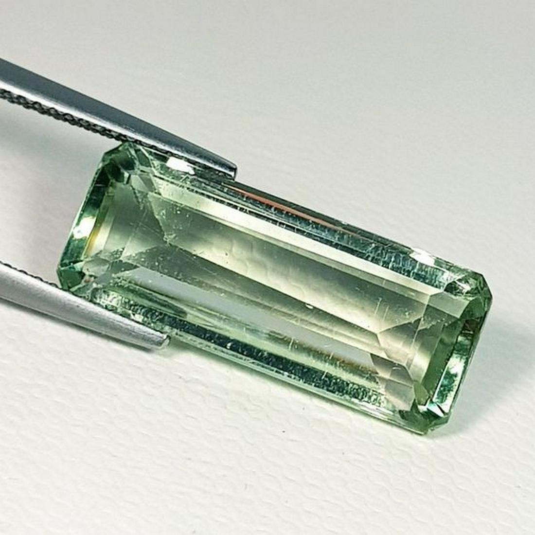 Natural Green Amethyst Emerald Cut 10.55 ct