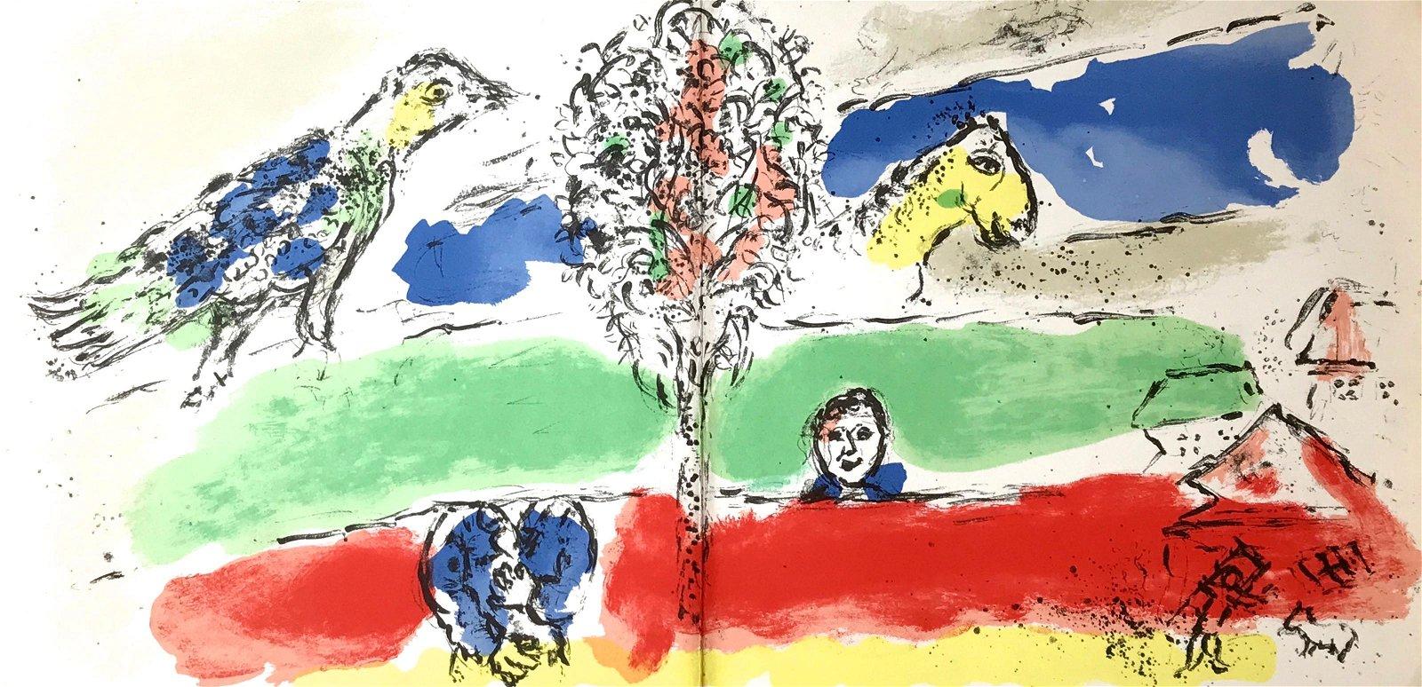 "Marc Chagall original lithograph ""Le fleuve vert"" The"