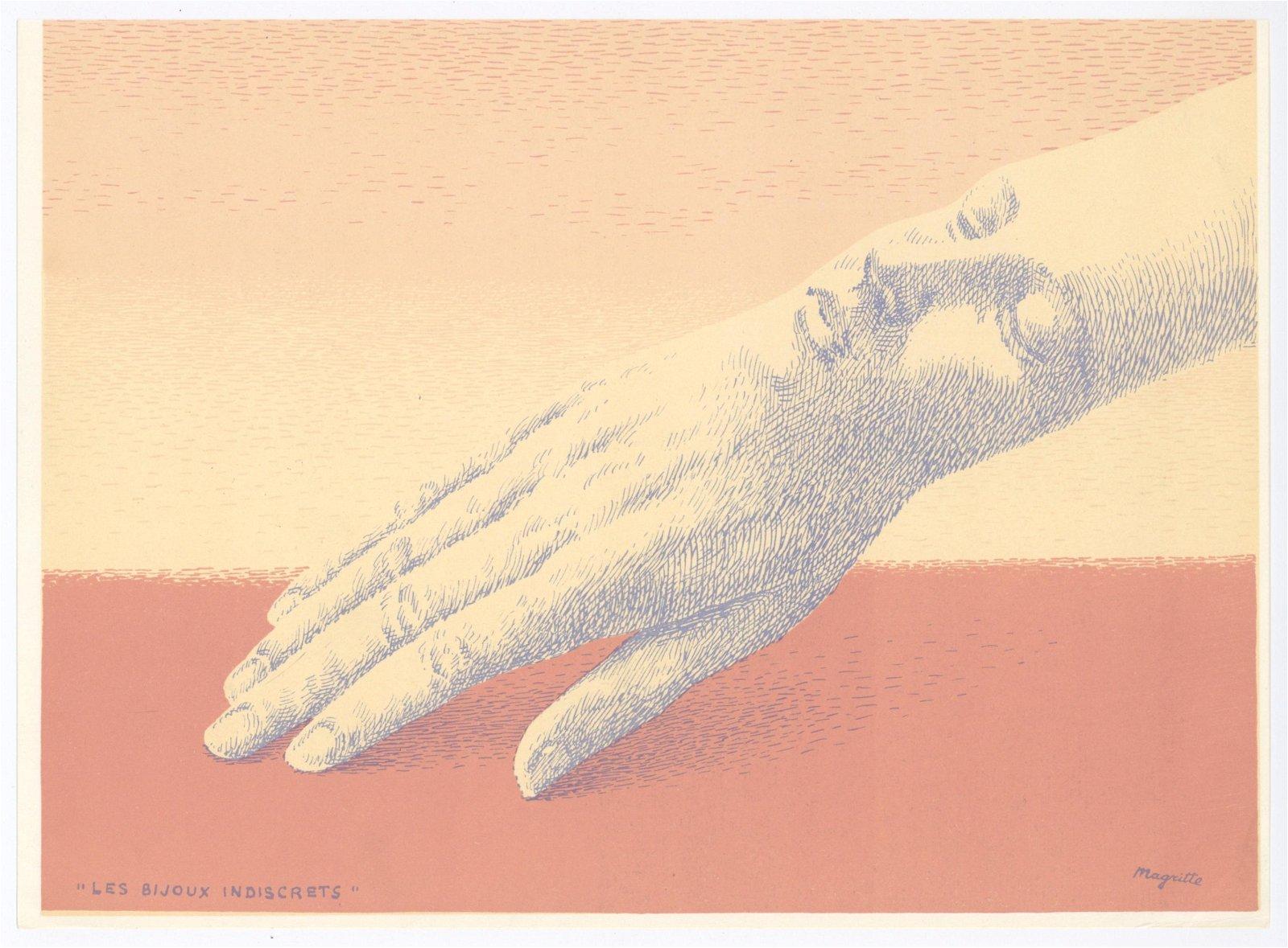 """Rene Magritte original lithograph """"Les bijoux"""