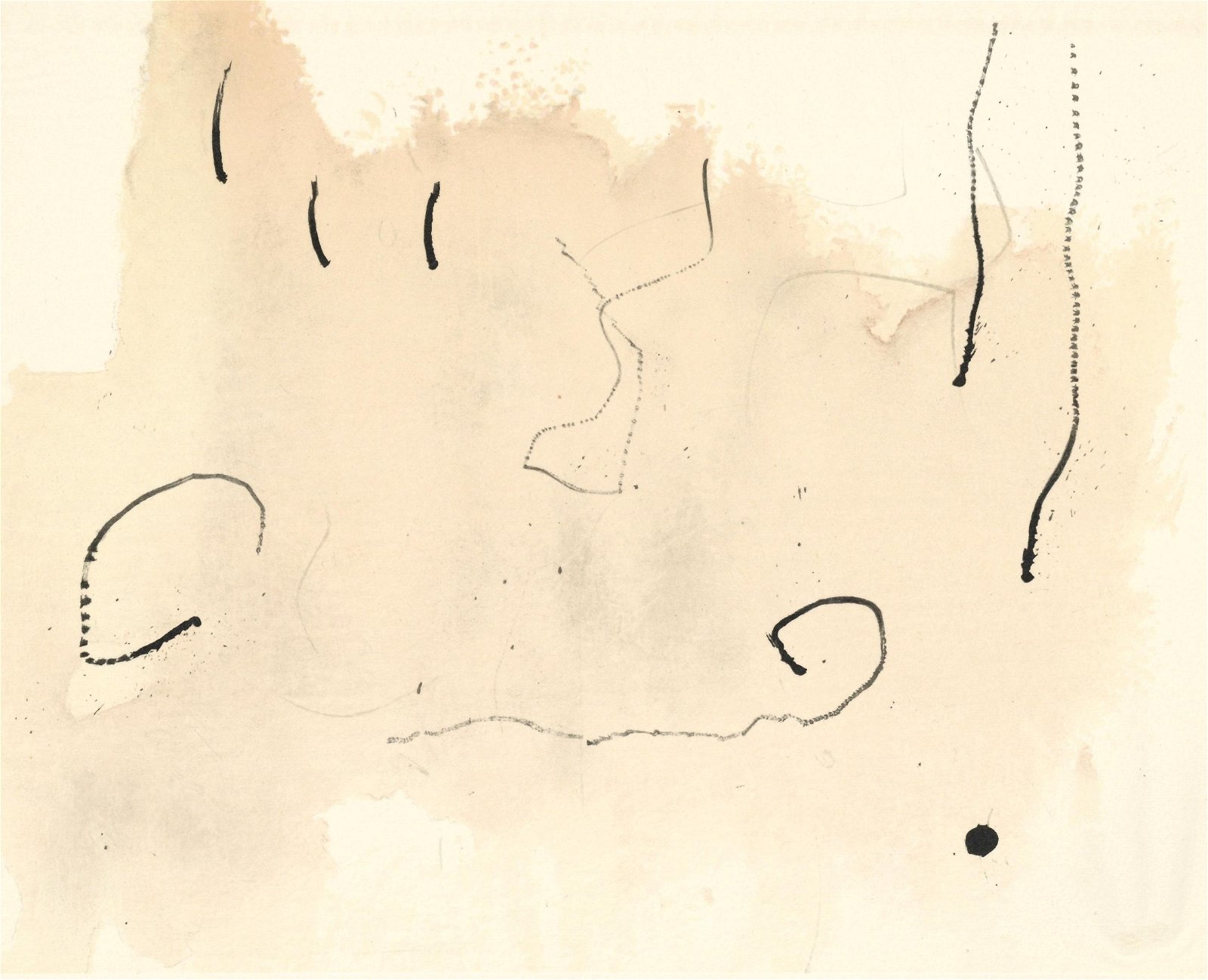 """Joan Miro lithograph """"Trace sur l'eau"""" 1963"""