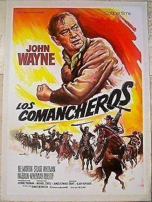 Comancheros '61 Lb Span 1 Sh~ John Wayne & Lee Marvin