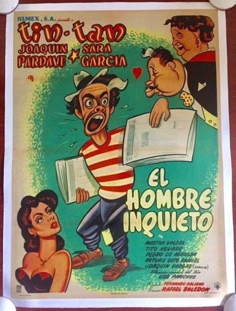 El Hombre Inquieto - Original 1953 Mexican Lb Poster -