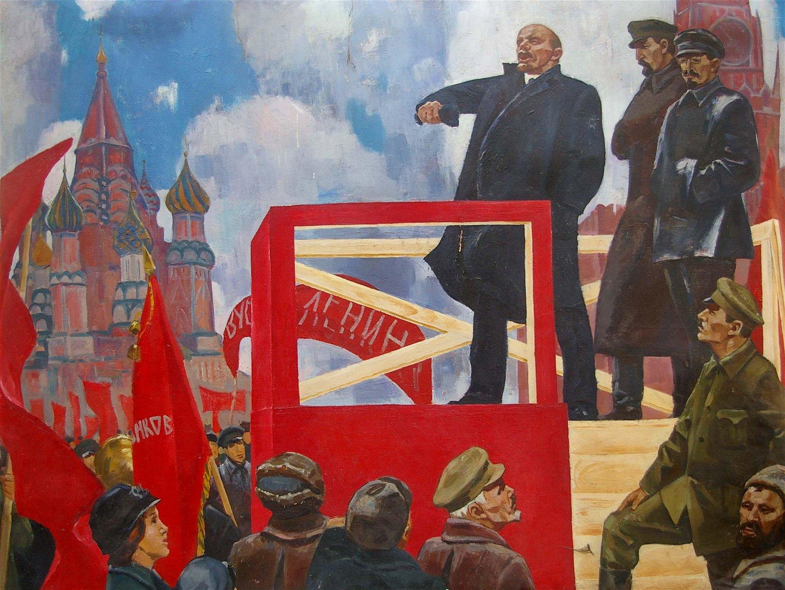 Oil painting Lenin's speech Sinepolsky Igor Ivanovich