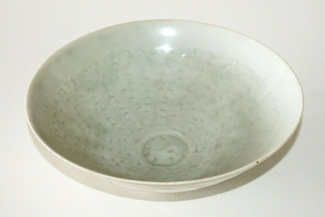 China Song Yingqing Thin Wall Pottery Bowl Incised Wave
