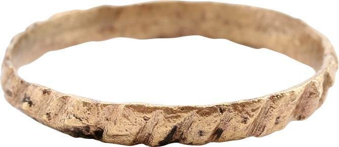ANCIENT VIKING TWISTED FORM RING S 6 ¼