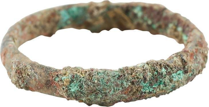VIKING WEDDING RING, 900-1050 AD, SIZE 6 ¼