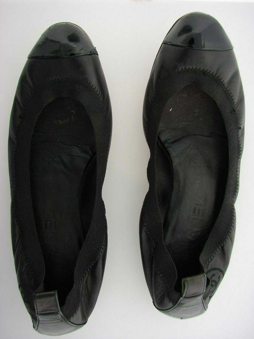 CHANEL BLACK FLAT MADE IN ITALY SIZE 38