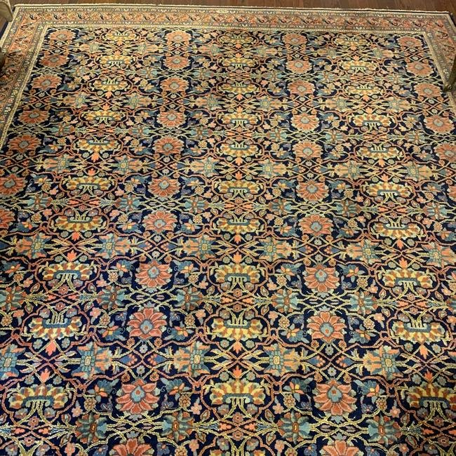 Semi Antique Hand Woven Persian Bijar 8.5x11.5