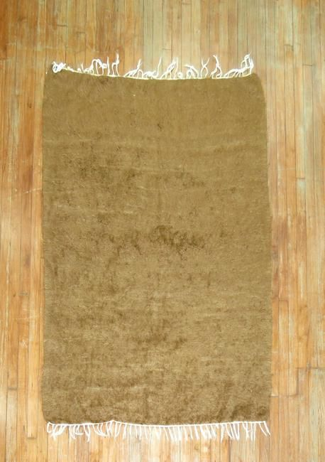 Solid Brown Mohair Rug