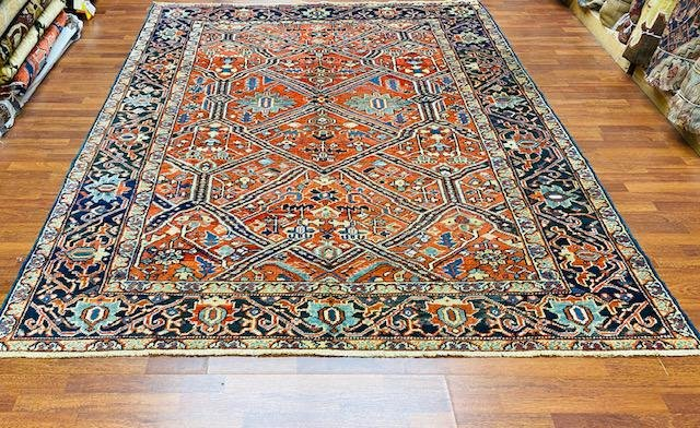 Antique all over Persian Heriz rug-4713