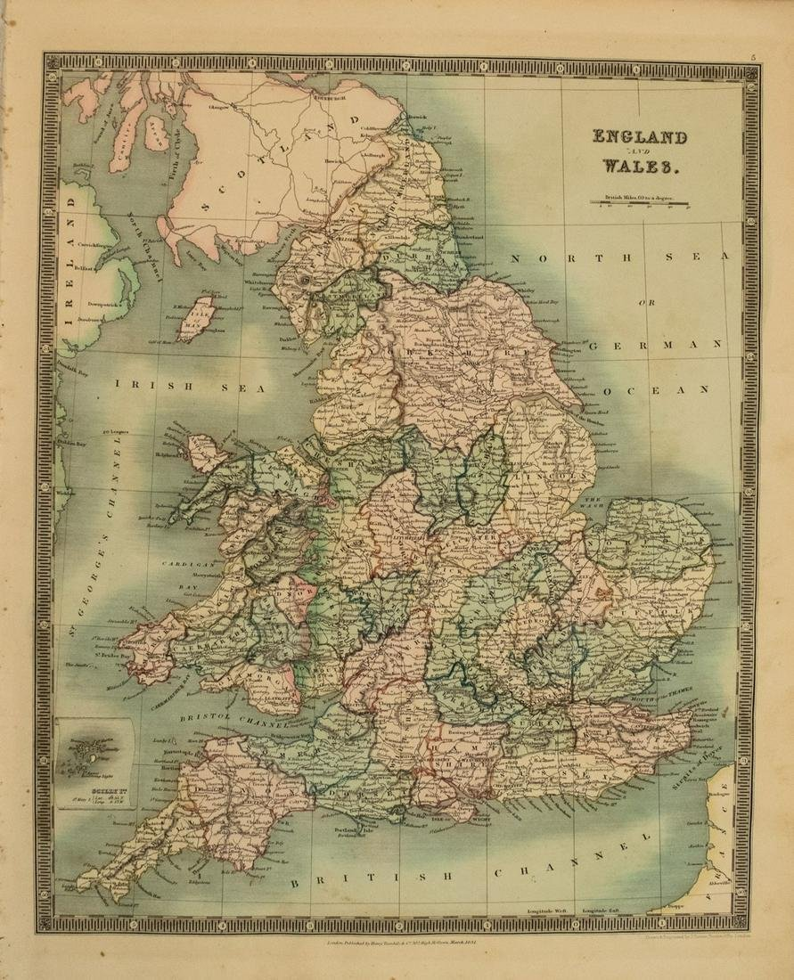 1831 Teesdale Map of England and Wales -- England and