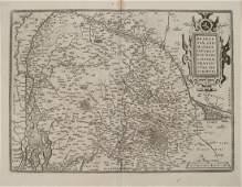 1579 Ortelius Map of Parts of Belgium and Holland --