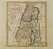 1795 c Robert de Vaugondy Map of the Holy Land