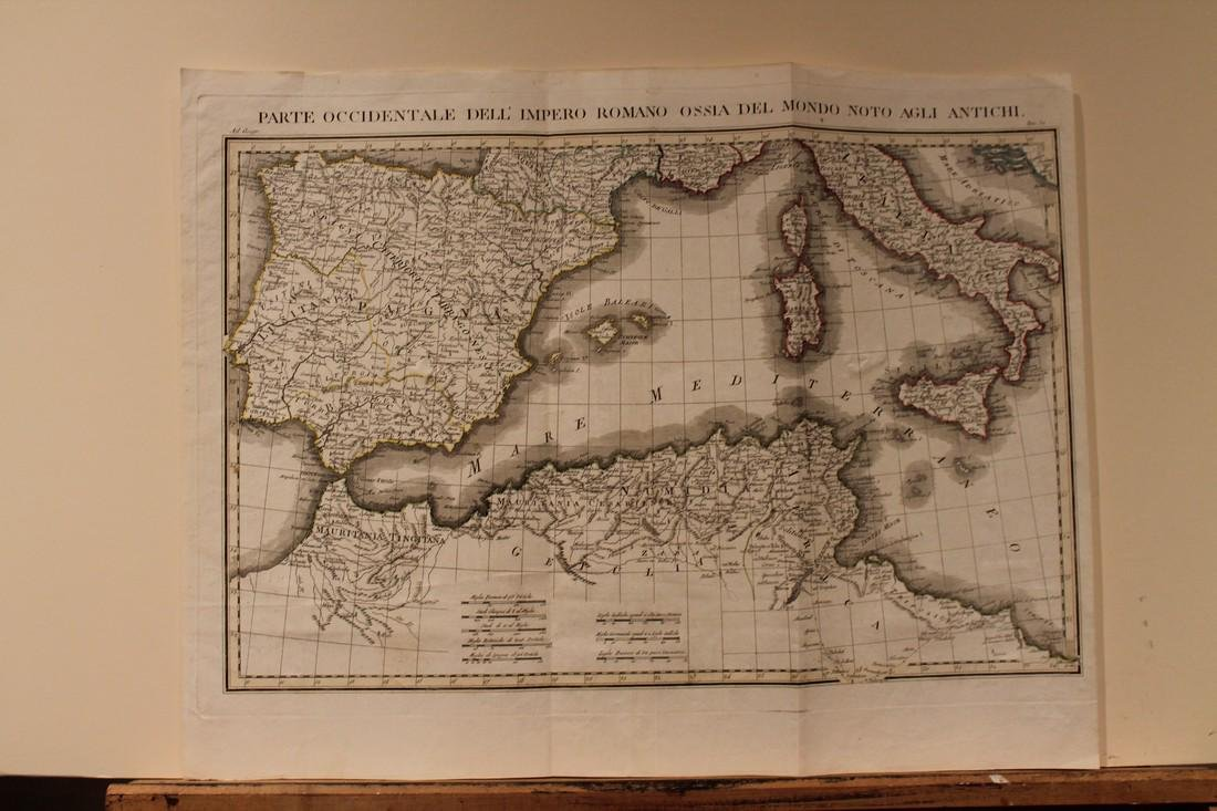 1771 Map of Spain, Portugal, Italy and Northern Africa
