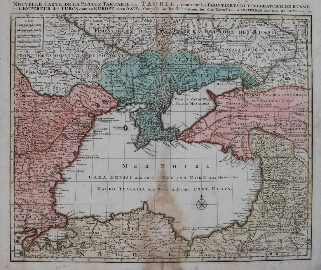 1792 Elwe Map of the Black Sea Region -- Nouvelle Carte