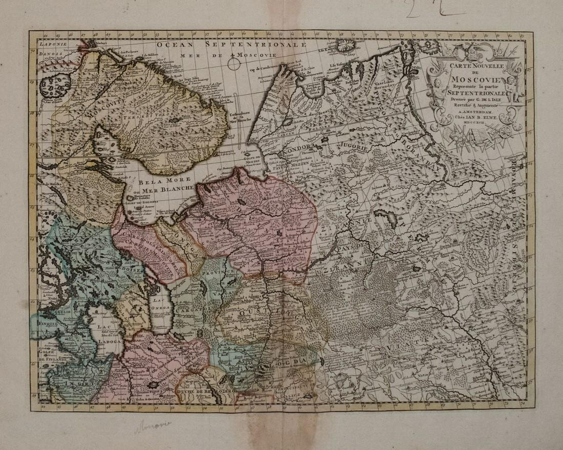 1792 Elwe Map of Northern Russia in Europe -- Carte