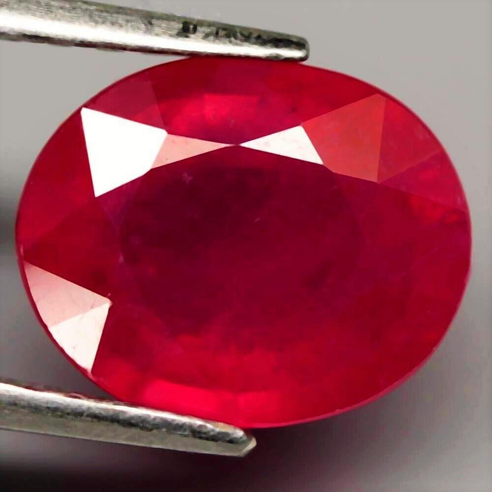 2,47 cts Natural Oval Blood Red Ruby