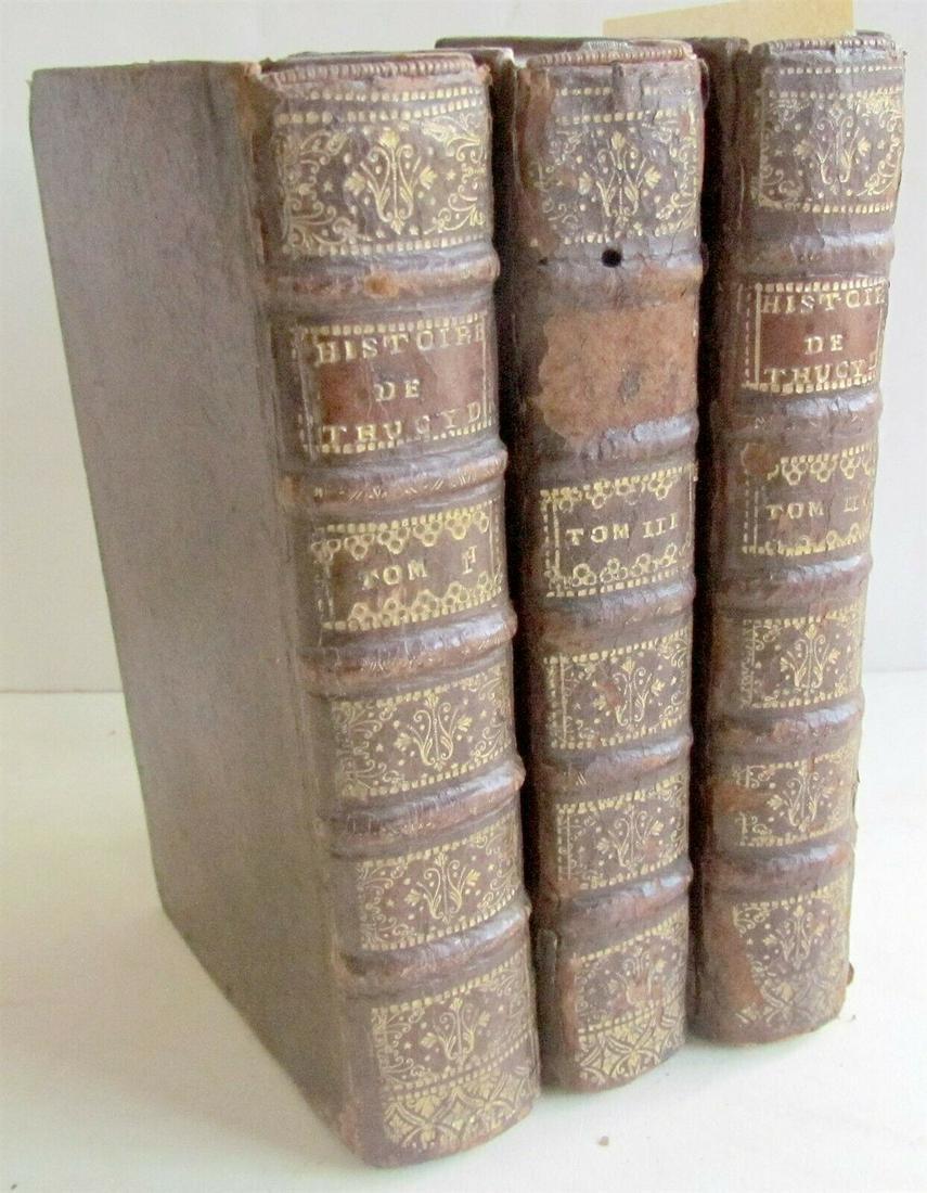 1714 3 VOLUMES HISTORY OF PELOPONNESIAN WAR THUCYDIDE
