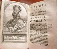 1663 HISTORY of EMPEROR CHARLES V antique in FRENCH