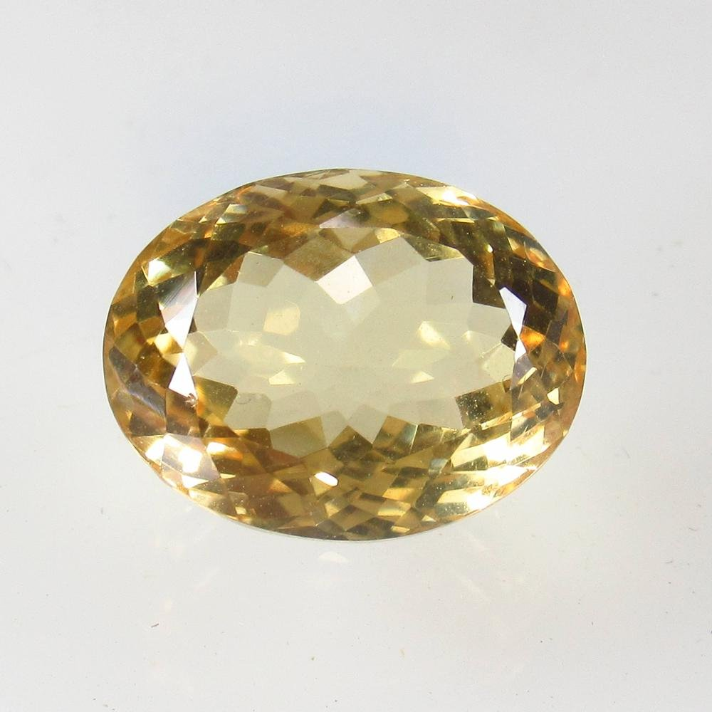 13.09 Ct Natural Yellow Citrine Oval Cut