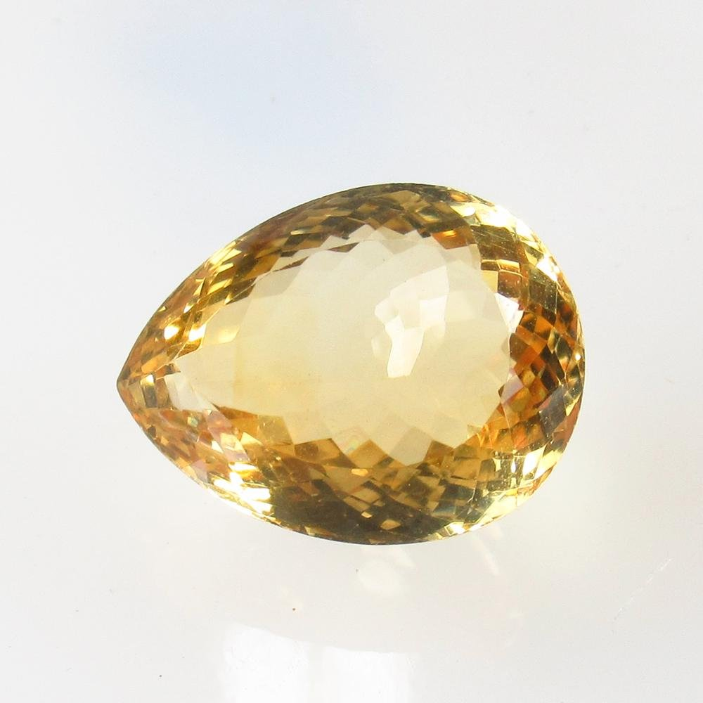 14.96 Ct Natural Yellow Citrine Oval Cut