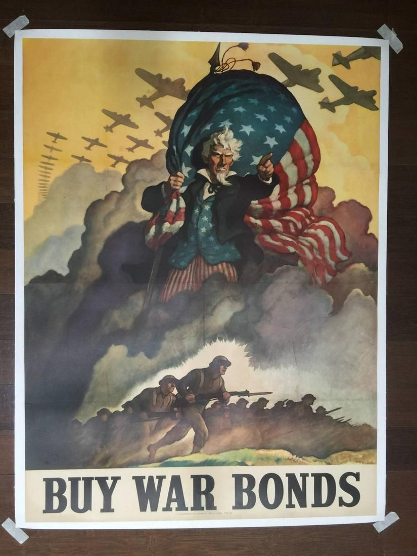 Buy War Bonds Art By N C Wyeth 1942 22 X 28 Us Aug 19 2020 Jasper52 In Ny