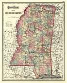 Gray's Atlas Map of Mississippi