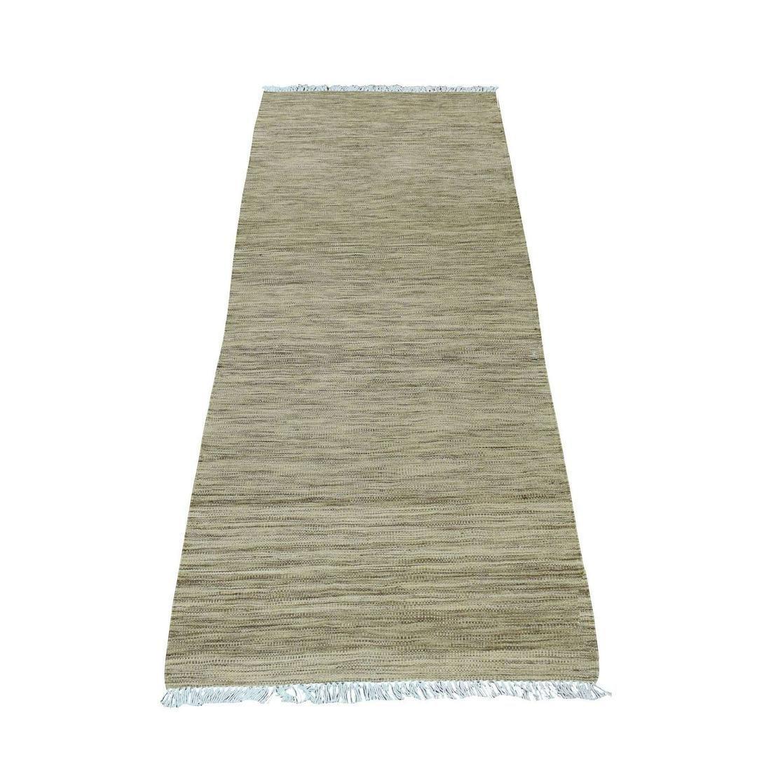 Gray Shades Reversible Kilim Pure Wool Hand Woven