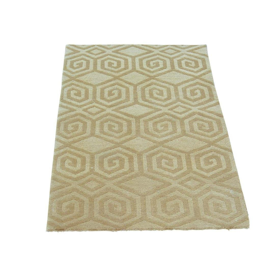 Wool and Silk Modern Nepali Hand Knotted Oriental Rug